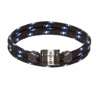 Holler Bailey Black Polished Barrel / Black and White Paracord Bracelet