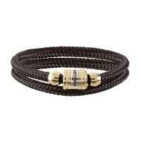 Holler Bailey Gold Polished Barrel / Black Paracord Bracelet