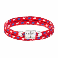 Holler Bailey Silver Polished Barrel / Red Paracord Bracelet