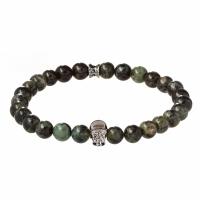Holler Jefferson 8mm Green Kambaba Stone Bracelet