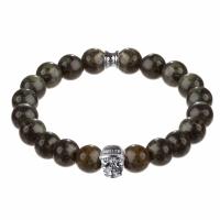 Holler Jefferson 10mm Green Kambaba Stone Bracelet