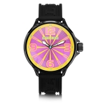 Holler Funked Up Gold & Magenta Watch