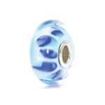 Trollbeads Bluish Shadow Silver & Glass Bead 61153