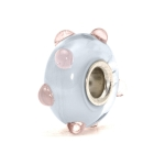 Trollbeads Pastel Bud Silver & Glass Bead 61199
