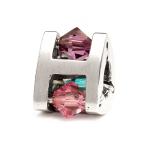 Trollbeads Small Winter Jewel Silver & Swarovski Crystal Bead 61713