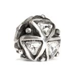 Trollbeads Crystal Triangle Silver Bead 12301