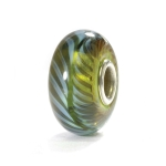 Trollbeads Blue-Green Feather Bead (RETIRED) 61350