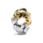 Trollbeads Happy Fish Silver & 18ct Gold Bead 41814