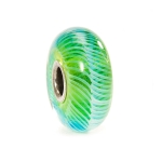 Trollbeads Turquoise Feather Silver & Glass Bead 61370