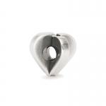 Trollbeads Double Heart Silver Bead 11450