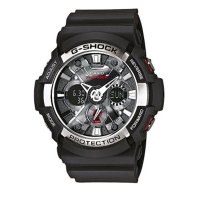 Casio G-Shock Men's Black Alarm Chronograph Watch GA-200-1AER
