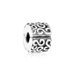 Pandora S Swirl Silver Clip 790338