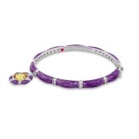 Lauren G Adams Purple Stackable Charm Bangle