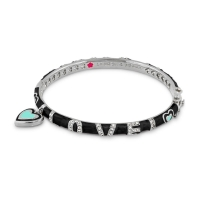 Lauren G Adams Love Charm Bangle