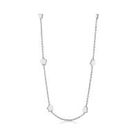 Lauren G Adams Silver and White Daisy Necklace