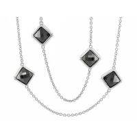 Lauren G Adams Black Prince Charming Diamond Necklace