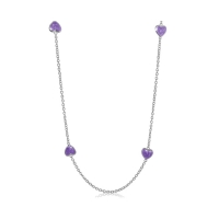 Lauren G Adams Silver with Purple Enamel Necklace