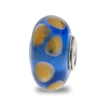 Trollbeads Blue and Yellow Unique Silver & Glass Bead