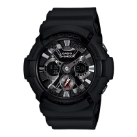 Casio G-Shock Men's Black Alarm Chronograph Watch GA-201-1AER