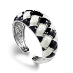 Belle Etoile Cestina Black & White Bangle