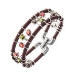 Belle Etoile Bejewelled Brown Bracelet