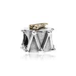 Pandora Drums Silver & 14ct Gold Charm 790412