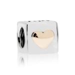 Pandora I Love You Silver & 14ct Gold Charm 790200