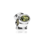 Pandora Cat's Eye Silver & Green CZ Charm 790289GCZ