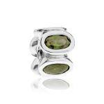 Pandora Oval Silver & Green CZ Charm 790311GCZ