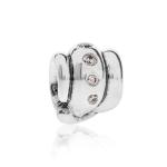 Pandora Swirl Silver & Champagne CZ Charm 790328CCZ