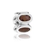 Pandora Oval Silver & Brown CZ Charm 790311BCZ