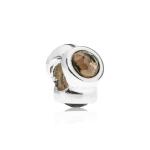 Pandora Natural Light Silver & Smoky Quartz Charm 790351SQ