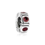 Pandora Northern Light Silver & Red CZ Trinity Spacer 790368CZR