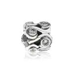 Pandora Ocean Wave Silver & Clear CZ Charm 790369CZ