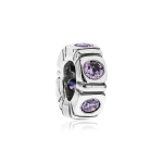 Pandora Northern Light Silver & Purple CZ Trinity Spacer 790368ACZ