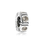 Pandora Northern Light Silver & Champagne CZ Trinity Spacer 790368CCZ