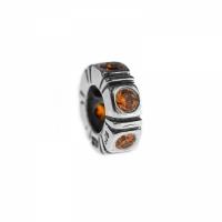Pandora Northern Light Silver & Orange CZ Trinity Spacer 790368OCZ