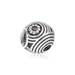 Pandora Hypnotic Silver & Brown CZ Charm 790432BCZ