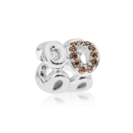 Pandora Circle of Friends Silver & Champagne & Brown CZ Charm 790445CZ
