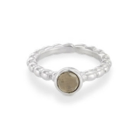 Pandora Sweet Dreams Smokey Quartz Bubble Silver Ring 190244SQ