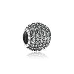 Pandora Pave Ball Silver & Clear CZ Charm 791051CZ
