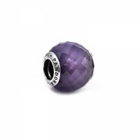 Pandora Purple Petite Silver & Purple CZ Faceted Charm 791499ACZ
