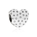 Pandora Sparkling Heart Silver & Clear CZ Charm 791241CZ