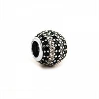 Pandora Stripe Pave Silver, Clear & Black CZ Charm 791172NCK