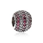 Pandora Stripe Pave Silver, Clear & Red CZ Charm 791172CZR