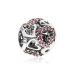 Pandora Falling In Love Openwork Silver & Pink CZ Charm 791424CZS