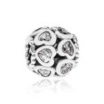 Pandora Love Bonds Silver & Clear CZ Charm 791250CZ