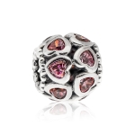 Pandora Love Bonds Silver & Pink CZ Charm 791250CZS