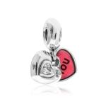 Pandora Me & You Silver, Clear CZ & Pink Enamel Pendant Charm 791244CZ