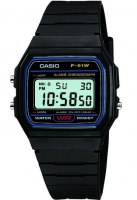 Casio Classic Unisex Black Alarm Chronograph Watch F-91W-1YER